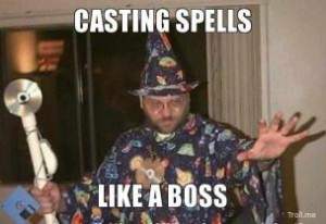 casting magic spell